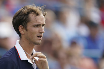 Daniil Medvedev is through to the final in Cincinnati.
