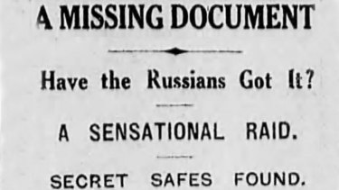 Headline from The Age, May 15, 1927.