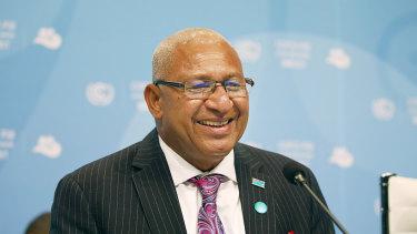 Fiji's Prime Minister Frank Bainimarama.