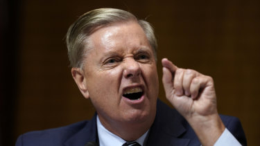 "Senator Lindsey Graham urged Trump to ""aim higher"" and called the congresswomen's policies ""disgusting""."