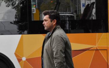 Developer Stefce Kutlesovski leaves the magistrates court in 2018.
