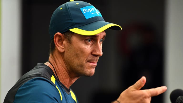 On front foot: Justin Langer at the SCG on Thursday.