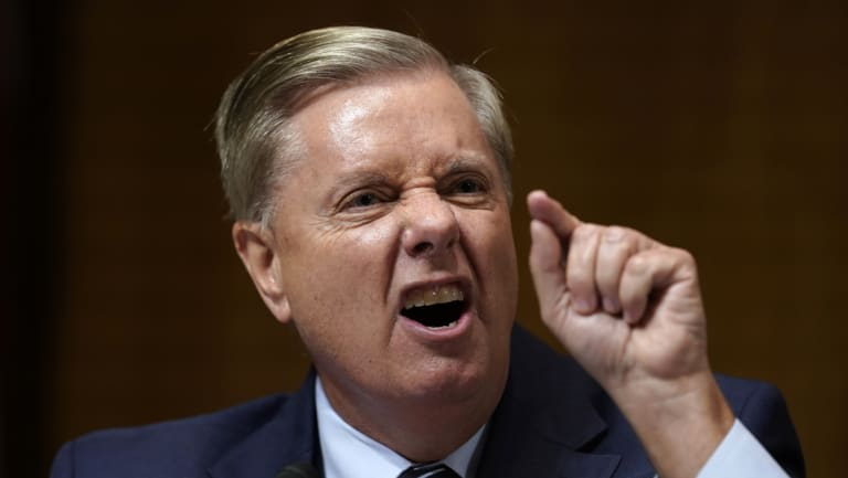 Senator Lindsey Graham's angry defence of Brett Kavanaugh enhanced his popularity in his native South Carolina.