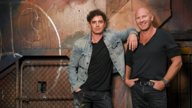 """Vince Fantauzzo and Matt Moran. """"He'll ask me if I've put on weight, and I'll ask him if he's growing his hair,"""" says Fantauzzo."""