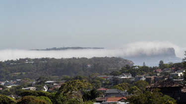 An unusual fog blanketed North Head and Bondi on Monday.