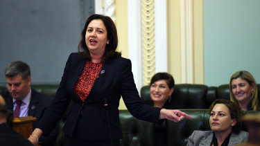Premier Annastacia Palaszczuk spent another day in question time defending Deputy Premier Jackie Trad.