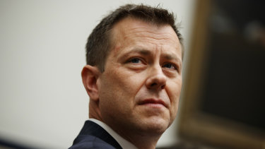 Former FBI deputy assistant director Peter Strzok testifies before the House committee in July.