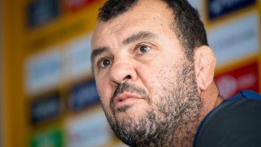 Under fire: Wallabies coach Michael Cheika.