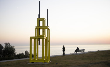 Artist Vaclav Fiala's sculptural tribute Tower to Jan Palach.