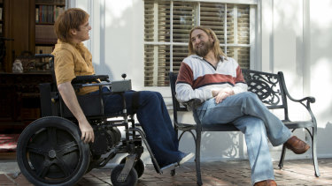 Joaquin Phoenix, left, and Jonah Hill in a scene from Don't Worry He Won't Get Far On Foot.