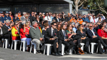 Locals turned out in force to mourn the father and son's deaths.