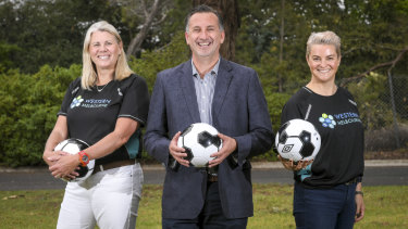 United they stand: Kate Roffey, Steve Horvat and Mia Shaw of the Western Melbourne Group.