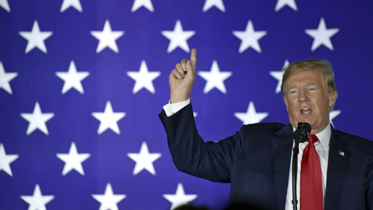 US President Donald Trump said former president Barack Obama's speech in Illinois had put him to sleep.