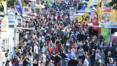 Biggest crowd at the Ekka since 2011 as perfect weather packs them in.