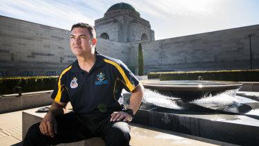 Invictus competitor and former UNSW Canberra alumni, Benjamin Farinazzo.