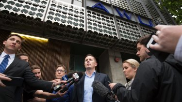 ACTU boss Sally McManus and AWU national secretary Daniel Walton after AFP raided their offices.