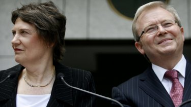 Helen Clark and Kevin Rudd were both vying for the UN's top job in 2016.