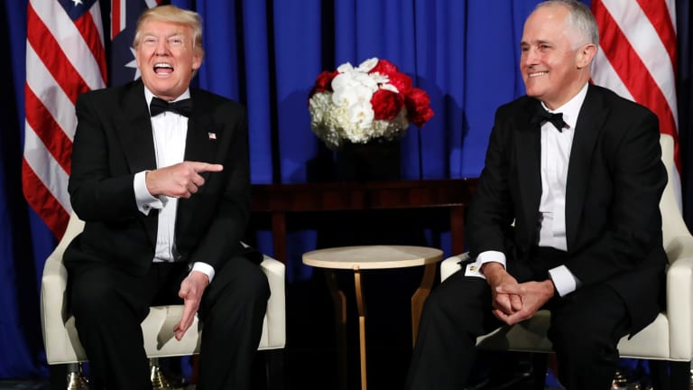 Same, same: Trump and Turnbull are both world leaders and former successful business executives.