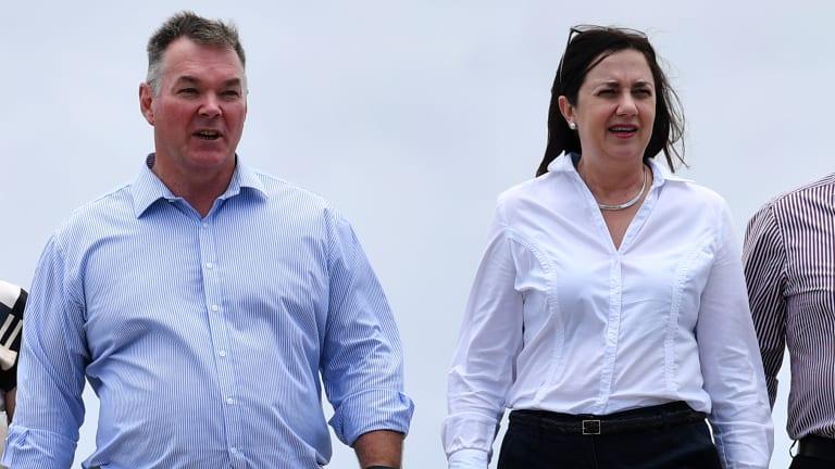 Scott Stewart, pictured with Premier Annastacia Palaszczuk, is set to claim Townsville for Labor.