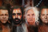 Portraits of Troy Cassar-Daley, Adam Goodes, Pat Anderson, Stan Grant were painted as part of a new recording of the Uluru Statement from the Heart.