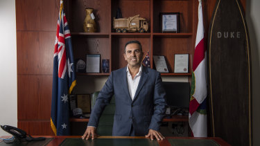 """For the first two weeks, I said to myself 'What have I done?' I was drowning"": Sutherland Shire mayor Carmelo Pesce."