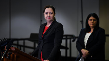 Premier Annastacia Palaszczuk announced schools would go pupil-free from Monday.