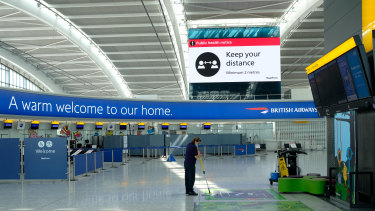 Passenger numbers at Heathrow Airport have plummeted.