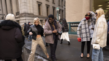 Cargo pants spotted in the wild during New York Fashion Week in February.