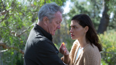 Bryan Brown as Ray and Phoebe Tonkin as the younger Gwen in <i>Bloom</i>.