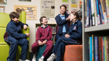 Daniel Sponneck, Riley Nedalkov, Kayla Thumwanich and Eva Panarello are some of the gifted students at Our Lady of the Rosary Catholic Primary School in Sydney.