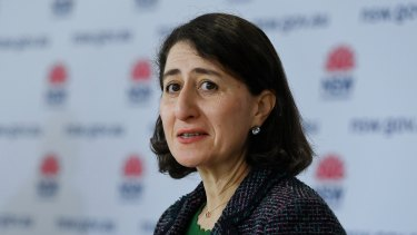NSW Premier Gladys Berejiklian has offered a relaxation of exercise restrictions on LGAs of concern.