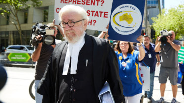 Robert Richter QC outside the County Court.