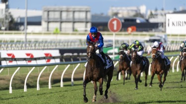 Zaaki was in a race of his own when he won the Doomben Cup.