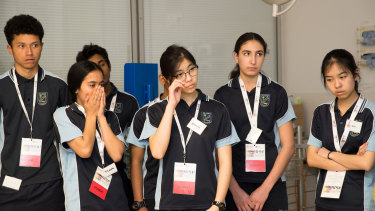 """""""The program is really confronting initially but it tends to have a positive effect on the students,"""" All Saints careers adviser Andrew Smith said."""