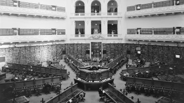 Interior view, 1940s.