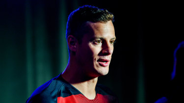 Big ambitions: Oriol Riera at the A-League season launch on Monday.