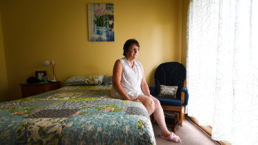 Debra Guy in the bedroom of her St Albans home.