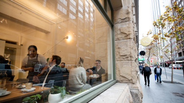Revenue at cafes such as Industry Beans has bounced back close to pre-COVID levels.