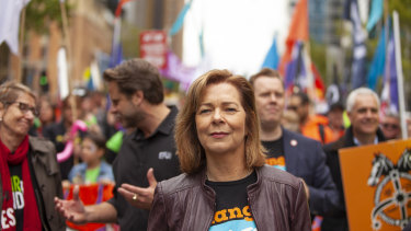 ACTU president Michelle O'Neil.