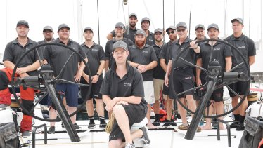 Most of the crew of Winning Appliances ahead of the 2018 Sydney to Hobart.