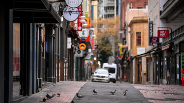 Melbourne in the middle of its fourth lockdown on June 1.