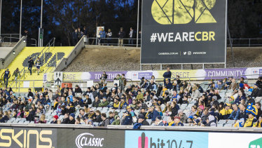The Brumbies are hoping they can fill the stands next year.