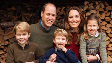 Prince William, Duke of Cambridge and Catherine, Duchess of Cambridge with their three children Prince George (left), Princess Charlotte (right) and Prince Louis.