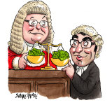 Chief Justice Tom Bathurst and Director of Public Prosecutions Lloyd Babb. Illustration: John Shakespeare