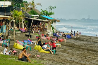 Batu Belig Beach, one of the best-known beaches in Canggu, remains popular.