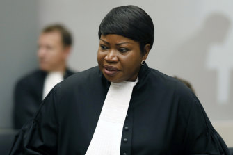 Chief prosecutor Fatou Bensouda at the International Criminal Court in The Hague, Netherlands.