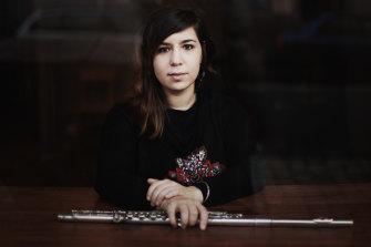 Flautist Lina Andonovska.