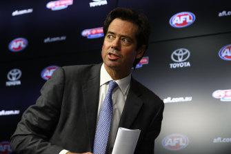AFL CEO Gillon McLachlan announced on Wednesday night that the season would be going ahead.