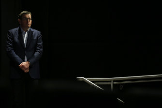 Premier Daniel Andrews said he was satisfied with the size of the public health team before the pandemic took hold.