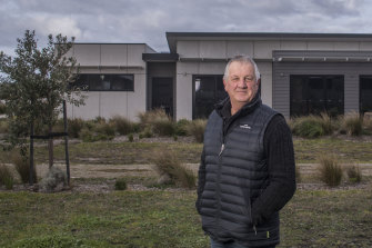 """Tad Hendry in front of his home at Cape Paterson. """"I just laugh when I hear the government talking about high energy prices,"""" he says."""